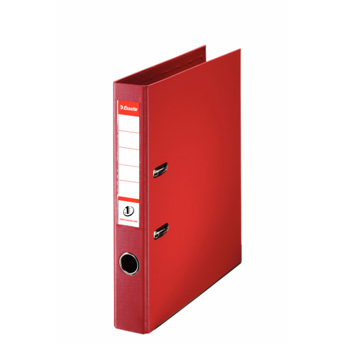 Lever Arch Files Esselte No1 Lever Arch File Polypropylene A4 50mm Red PK10