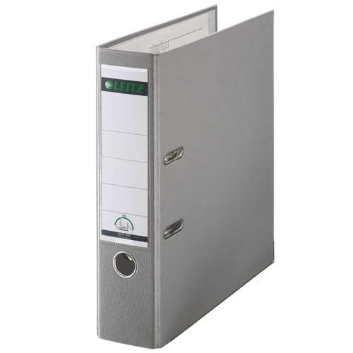 Lever Arch Files Leitz 180 Lever Arch File Polypropylene A4 80mm Spine Width Grey (Pack 10)