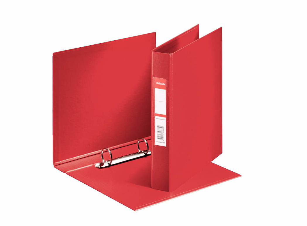Esselte Ring Binder 2-Ring 25mm A4 Red PK10