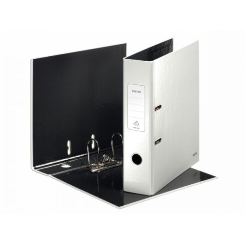Leitz Wow Lever Arch File A4 80mm Pearl White PK10