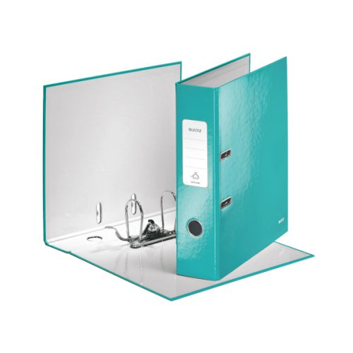 Leitz 180 WOW Lever Arch File A4 80mm Ice Blue 10pk
