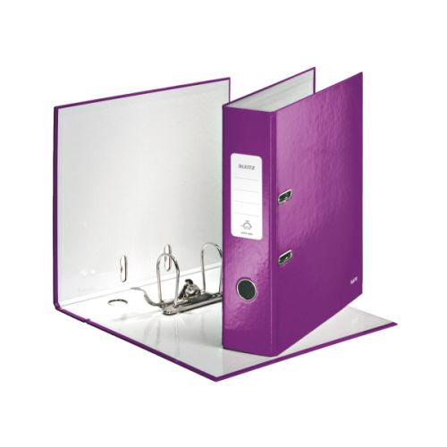 Leitz 180 WOW Lever Arch File A4 80mm Purple 10pk 10050062