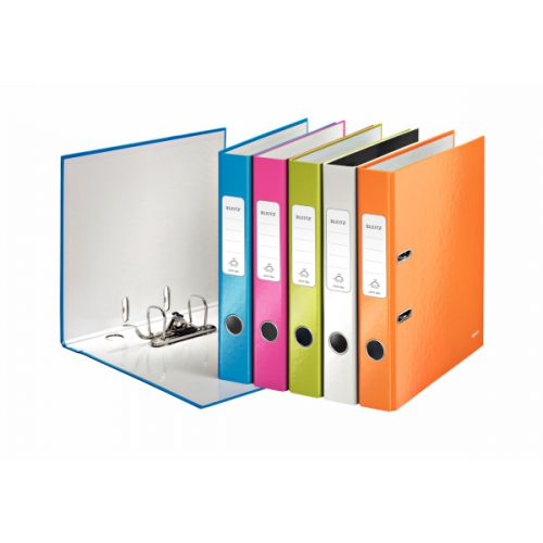 Leitz 180 WOW Lever Arch File A4 50mm Assorted 10pk