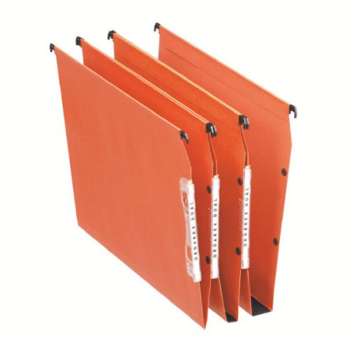 Esselte Orgarex Orange Lateral A4 File 30mm (Pack of 25) 21629