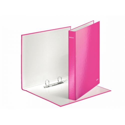 Leitz WOW Ringbinder A4 2DR 25mm Pink 10pk 42410023