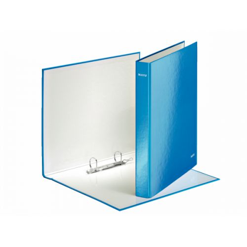 Leitz WOW Ringbinder A4 2DR 25mm Blue 10pk 42410036