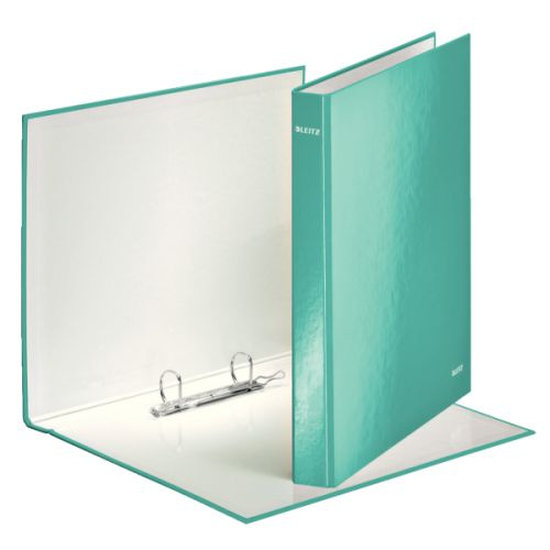 Leitz WOW Ringbinder A4 2DR 25mm Ice Blue 10pk 42410051