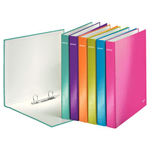 Leitz WOW A4+ 2D Binder 25mm Asstd Pk10