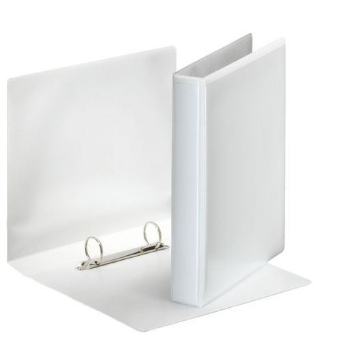 Esselte Essentials Presentation Ring Binder Polypropylene 2 D-Ring A5 25mm Rings White (Pack 12)