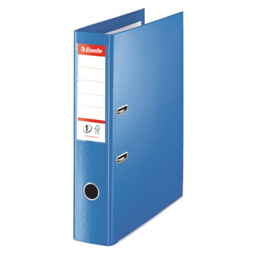 Esselte No1 Power Lever Arch Polypro Foolscp 75mm Blue PK10