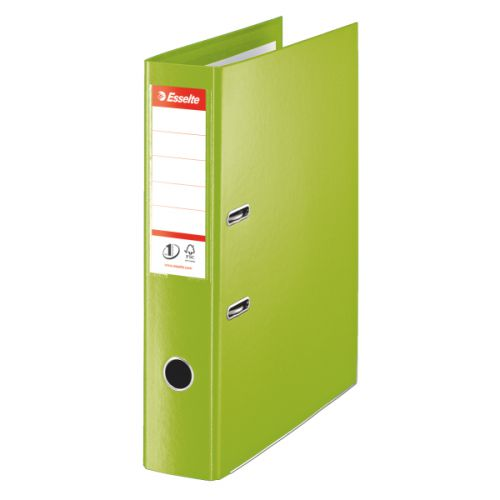 Esselte FSC No. 1 Power Lever Arch File PP Slotted 75mm Spine Foolscap Green Ref 48086 [Pack 10]