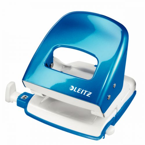 Leitz NeXXt WOW 2 Hole Punch Metallic Blue 50081036