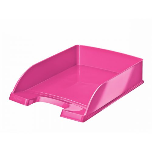 Leitz WOW Letter Tray A4 Portrait Metallic Pink
