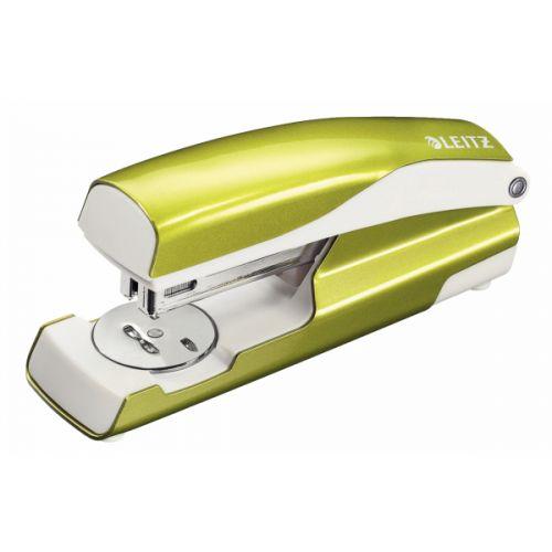 Leitz 5502 Metal Stapler (Metallic Green) 30 Sheets of 80gsm