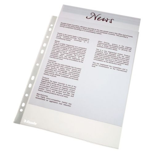 Esselte Punched Pocket A4 Clear 38 micron 56133 (PK100)