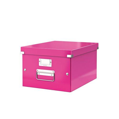 Leitz Click & Store A4 Medium Box Pink