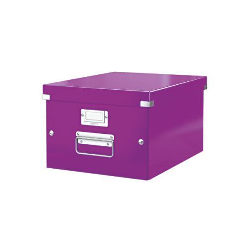 Leitz WOW Click and Store Box Medium Purple 60440062