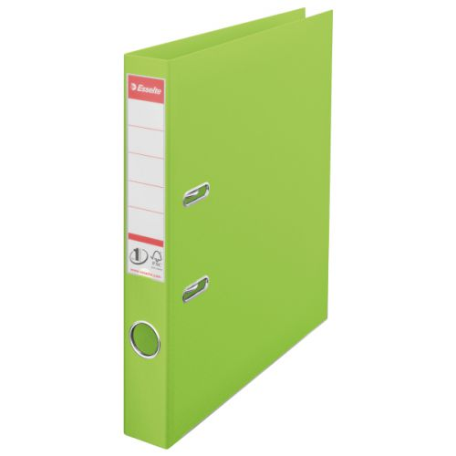 Esselte 50mm Lever Arch File Polypropylene A4 Green (Pack of 10) 48076