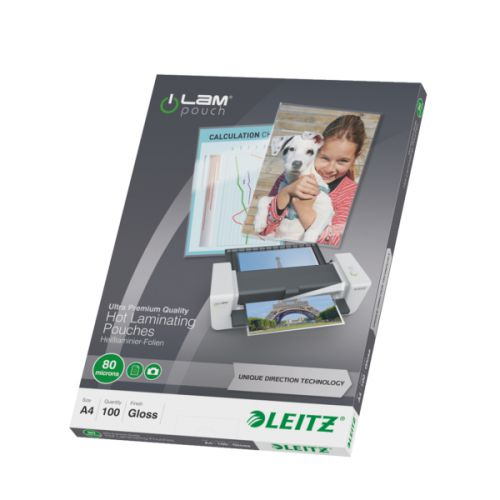 Leitz iLAM Prem Laminating Pouch A4 160 Micron (Pack of 100) 74780000