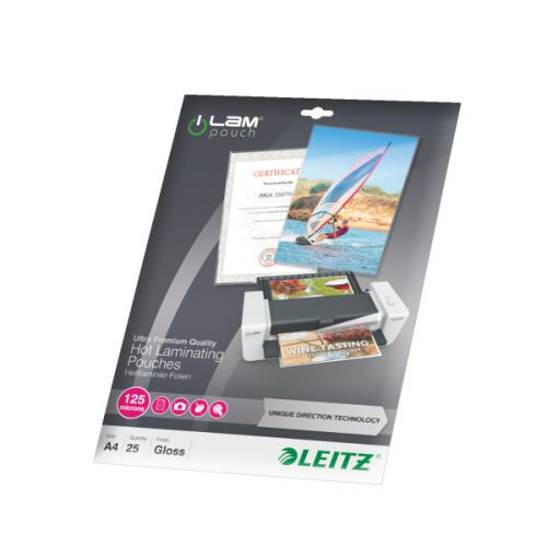 Leitz Laminator Pouch A4 250 Micron [Pack 25] Ref 74820000