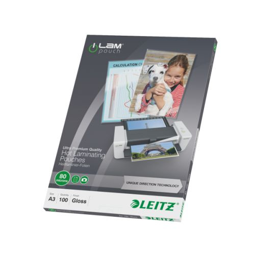 Leitz iLAM Prem Laminating Pouch A3 160 Micron (Pack of 100) 74850000