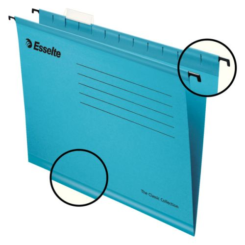 Esselte Classic Suspension File Foolscap Blue (PK25)