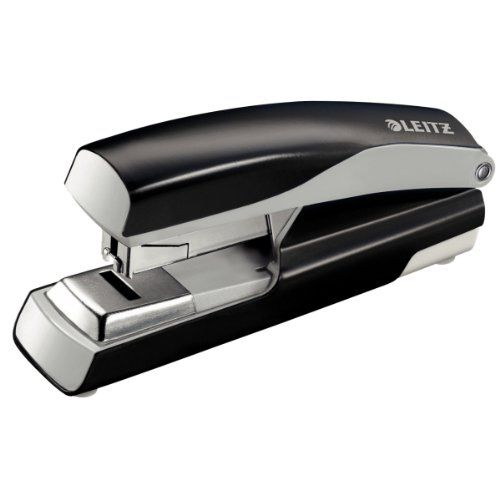 Leitz NeXXt Stapler 4mm Flat Clinch Black Ref 55230095L
