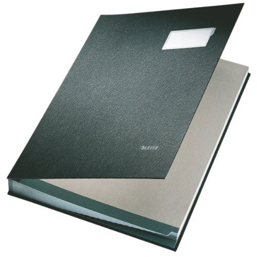 Image for Leitz Signature Book 20 Compartment Black 57000095
