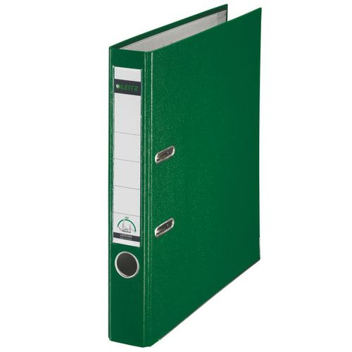 Leitz Mini Lever Arch File Plastic 50mm Spine A4 Green Ref 10151055 [Pack 10]