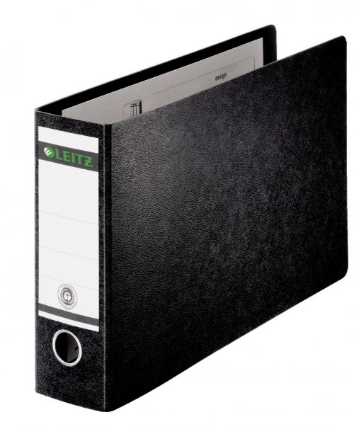 Leitz Board Oblong Lever Arch File A3 77mm Black PK2