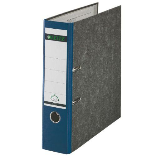 Leitz Paper-on-Board Lever Arch File A4 80mm Blue PK10
