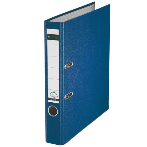 Leitz Polypropylene Lever Arch File A4 52mm Blue PK10