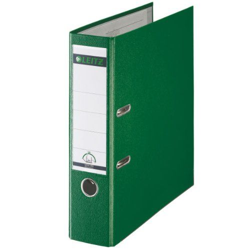 Leitz Polyproplyne Lever Arch File Green A4 80mm PK10