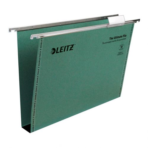 Leitz Ultimate Suspension File Foolscap Green 17450055 (PK50)