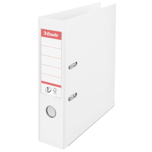 Esselte No1 Lever Arch File Polyprop A4 White75mm PK10