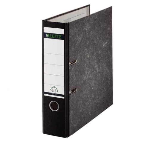 Leitz 180 Lever Arch File Board 80mm FC Black (Pack of 10) 10821095