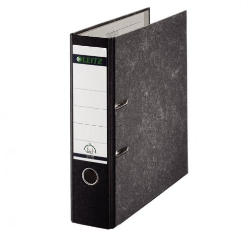 Leitz Standard Lever Arch File 80mm Spine Foolscap Black Ref 1082-95 [Pack 10]