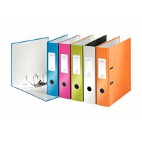 Leitz Wow Lever Arch File Laminated Paper on Board A4 80mm Spine Width Assorted (Pack 10)