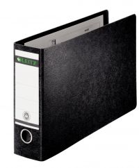 Leitz Board Oblong Lever Arch File A3 77mm Black PK2
