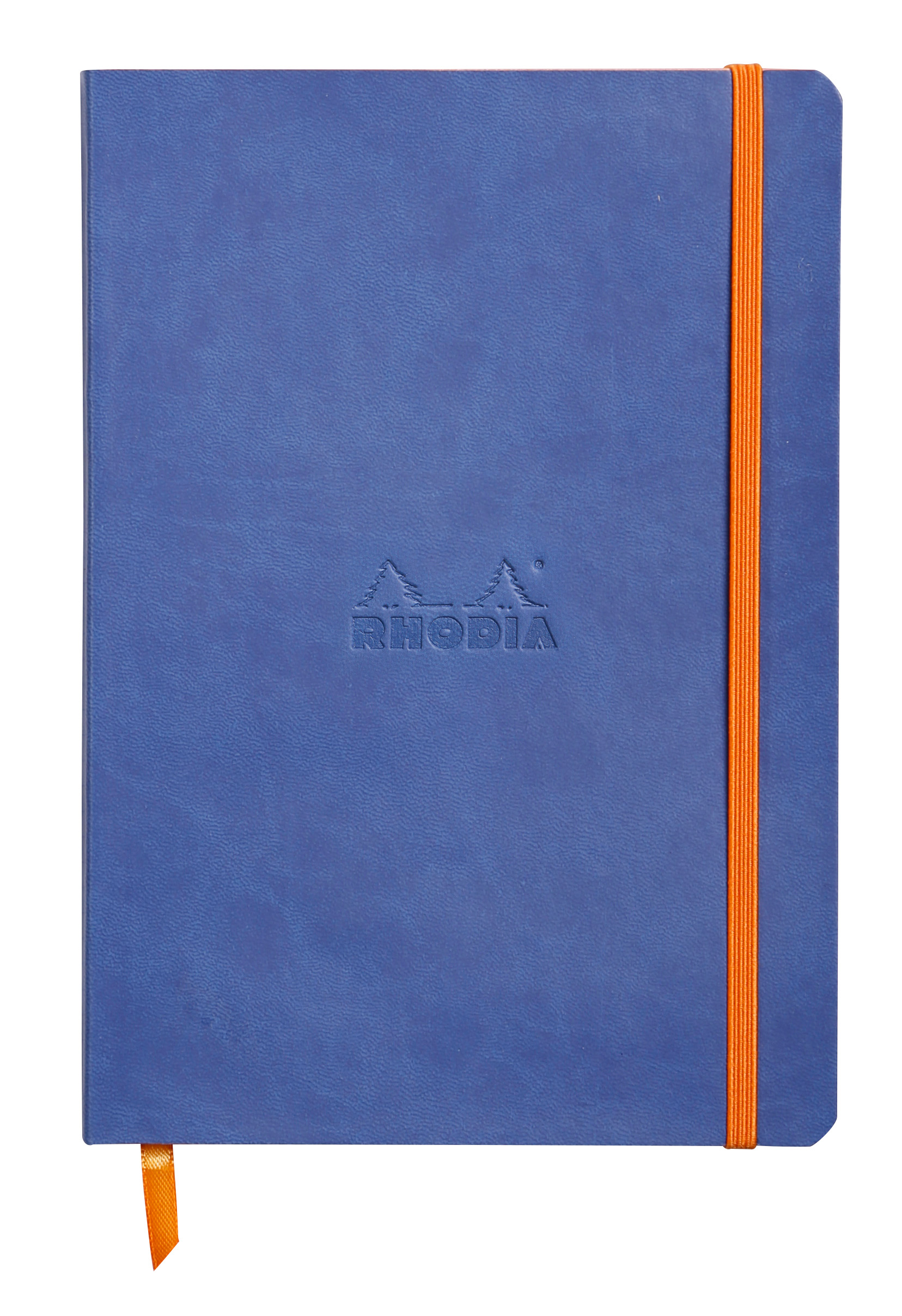 Pay Slip Pads Rhodiarama Softcover Notebook Lined A5 Sapphire Blue