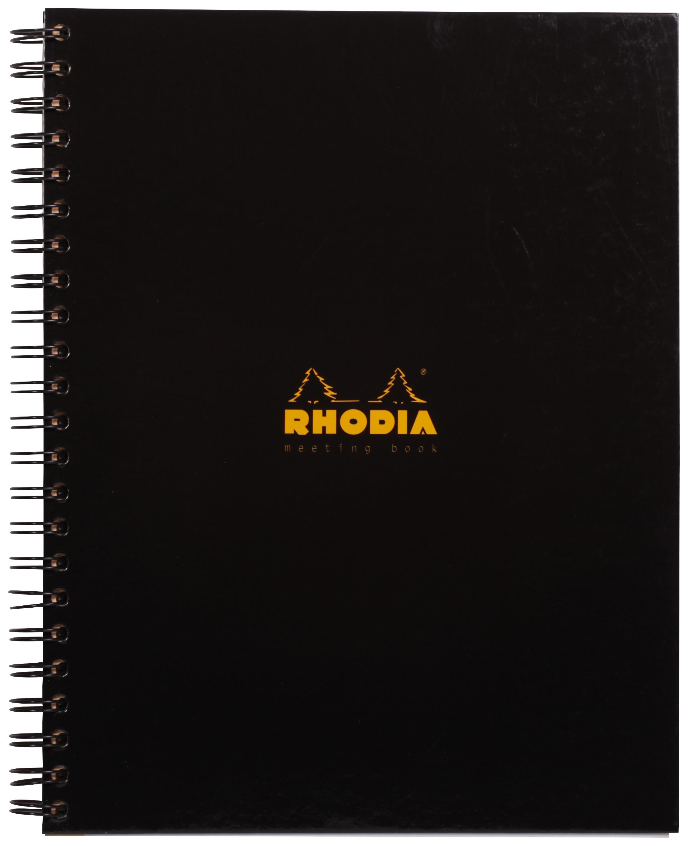 Rhodia Business Wirebound Meeting Book A4 Black PK3
