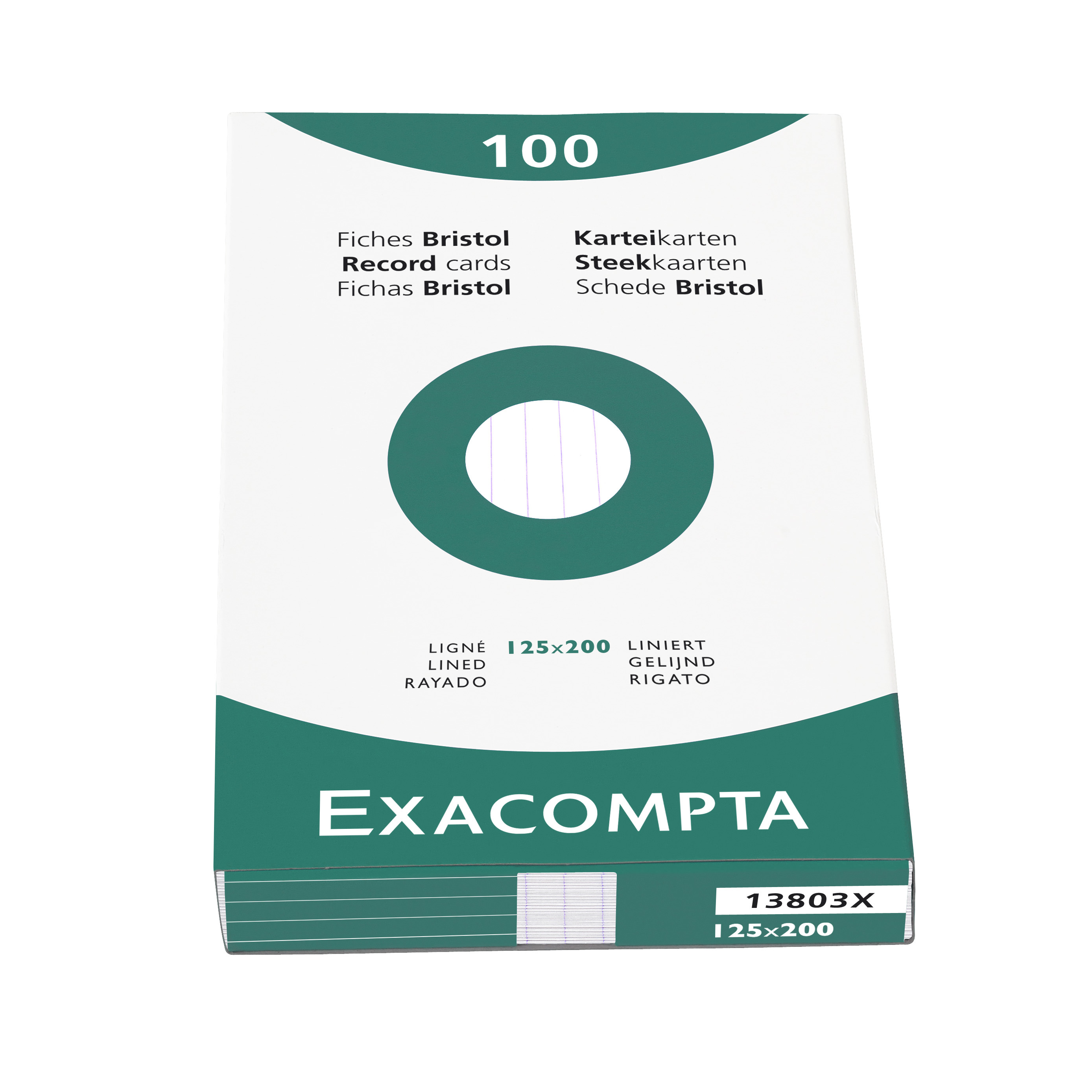 Exacompta Record Cards Lined125X200MM WT