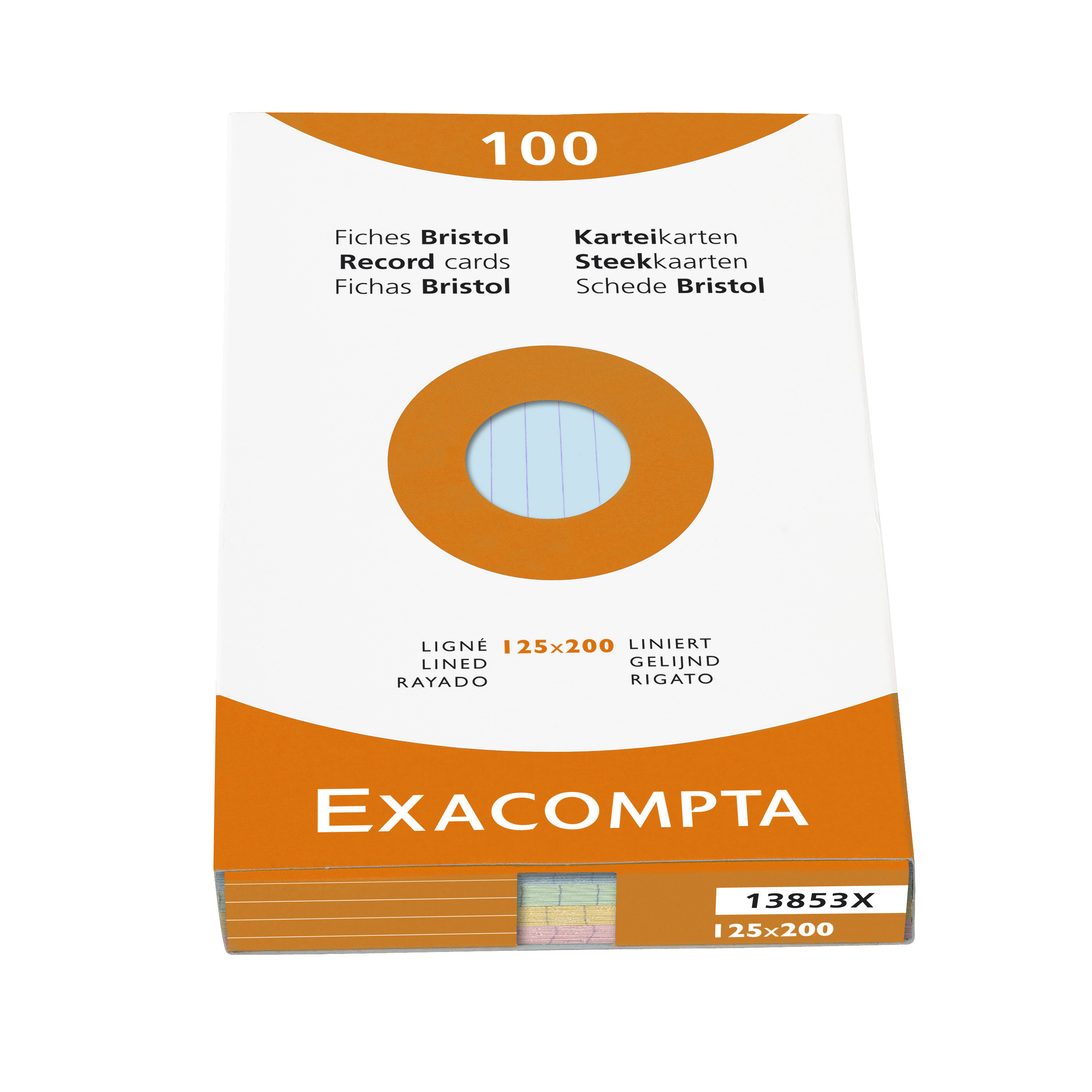 Exacompta Record Cards Lined125X200MM AS