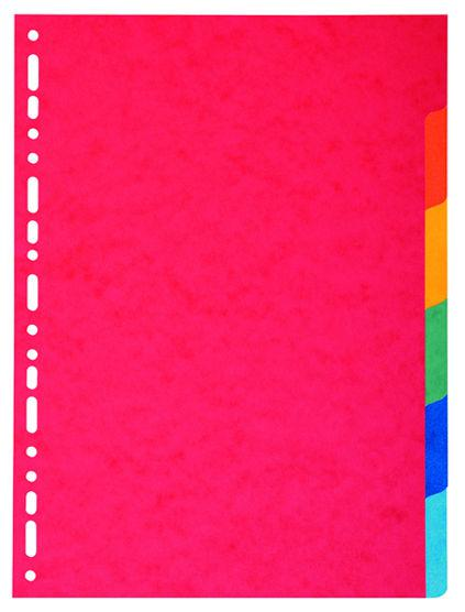 Exacompta Bright A4 Dividers 220gsm 6 part