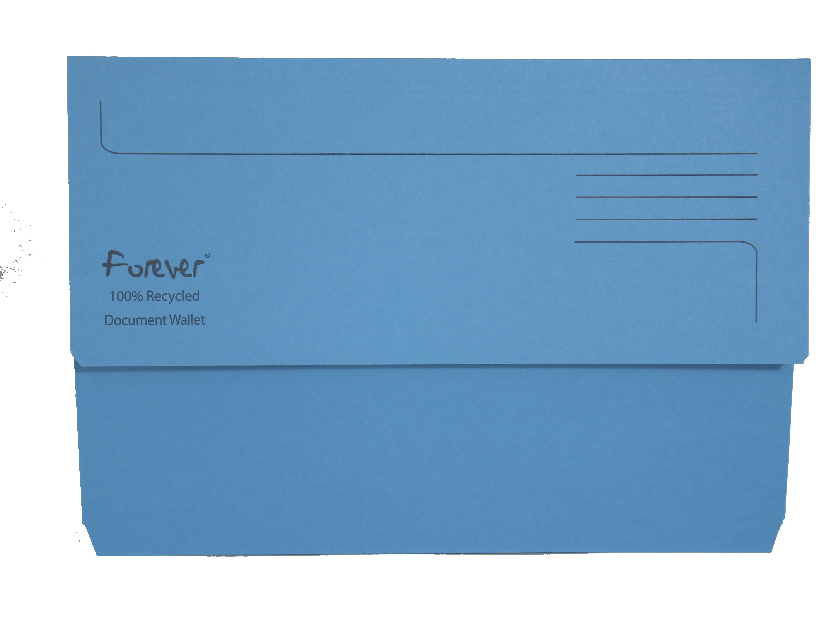 Legal Filing Forever Document Wallets 300gsm 345x245mm Blue PK25