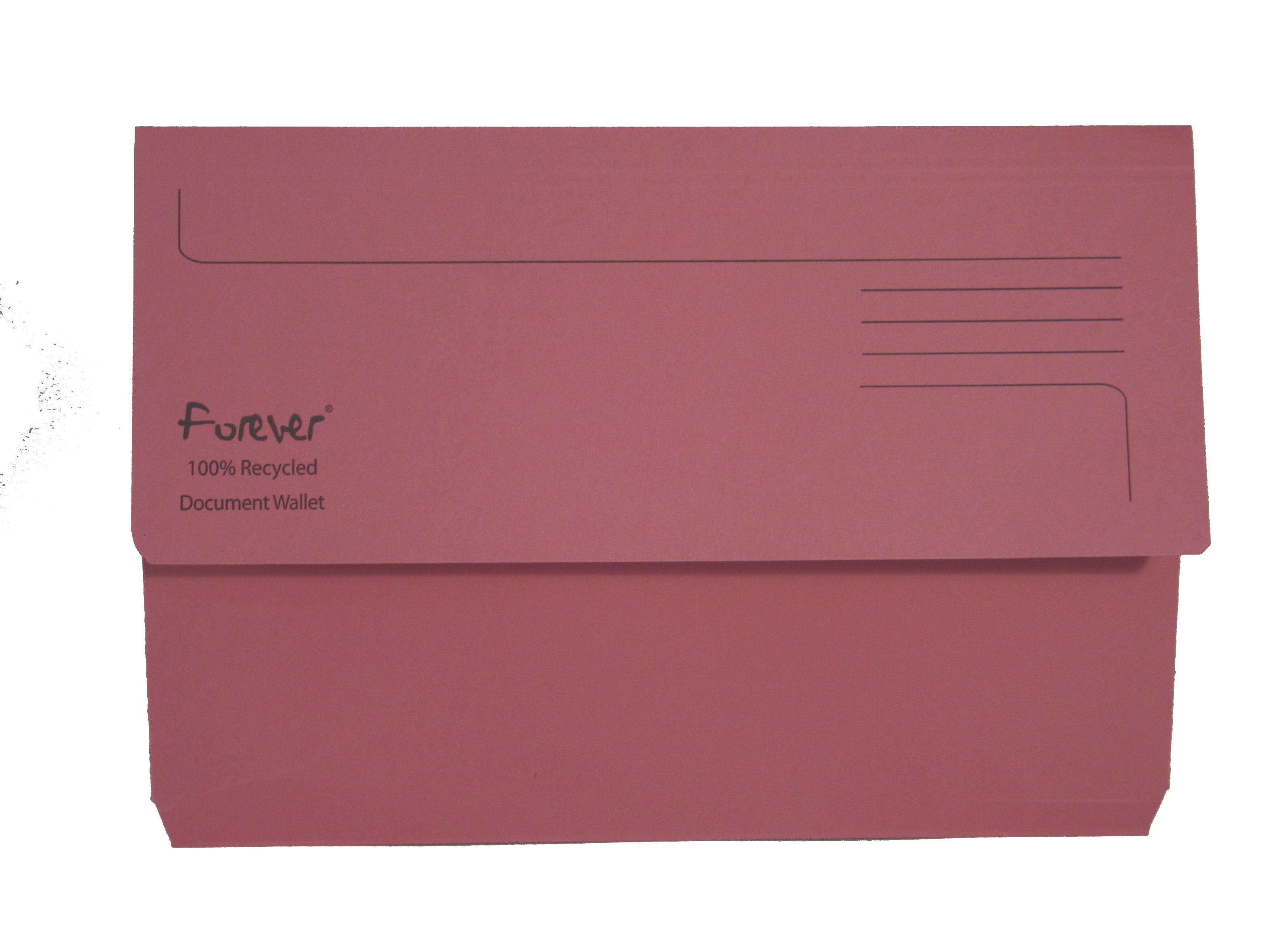 Forever Document Wallet Foolscap 290gsm Pink PK25