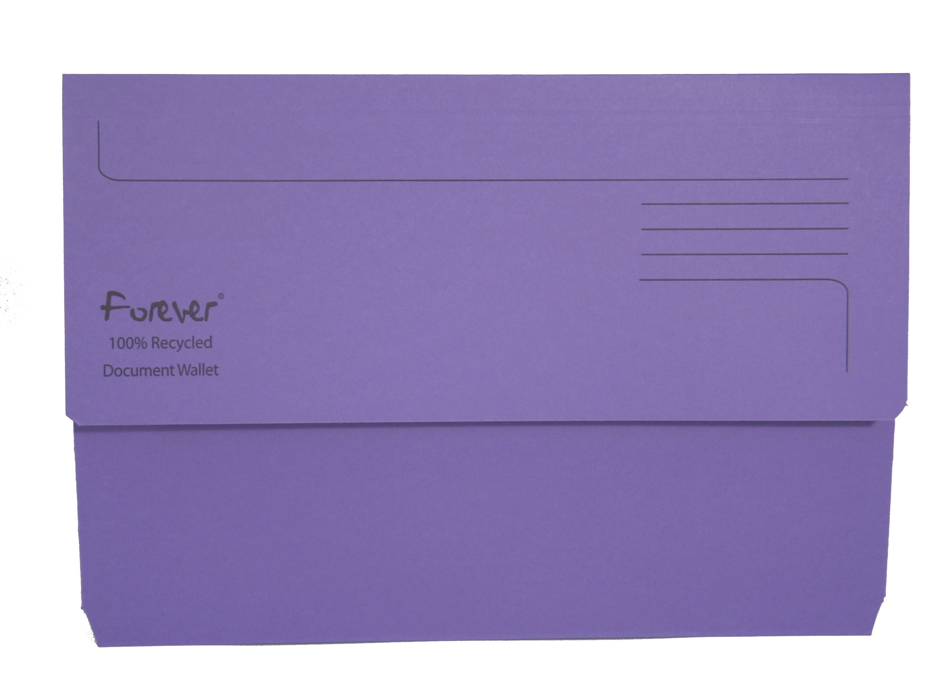 Legal Filing Forever Document Wallets 300gsm 345x245mm Purple PK25