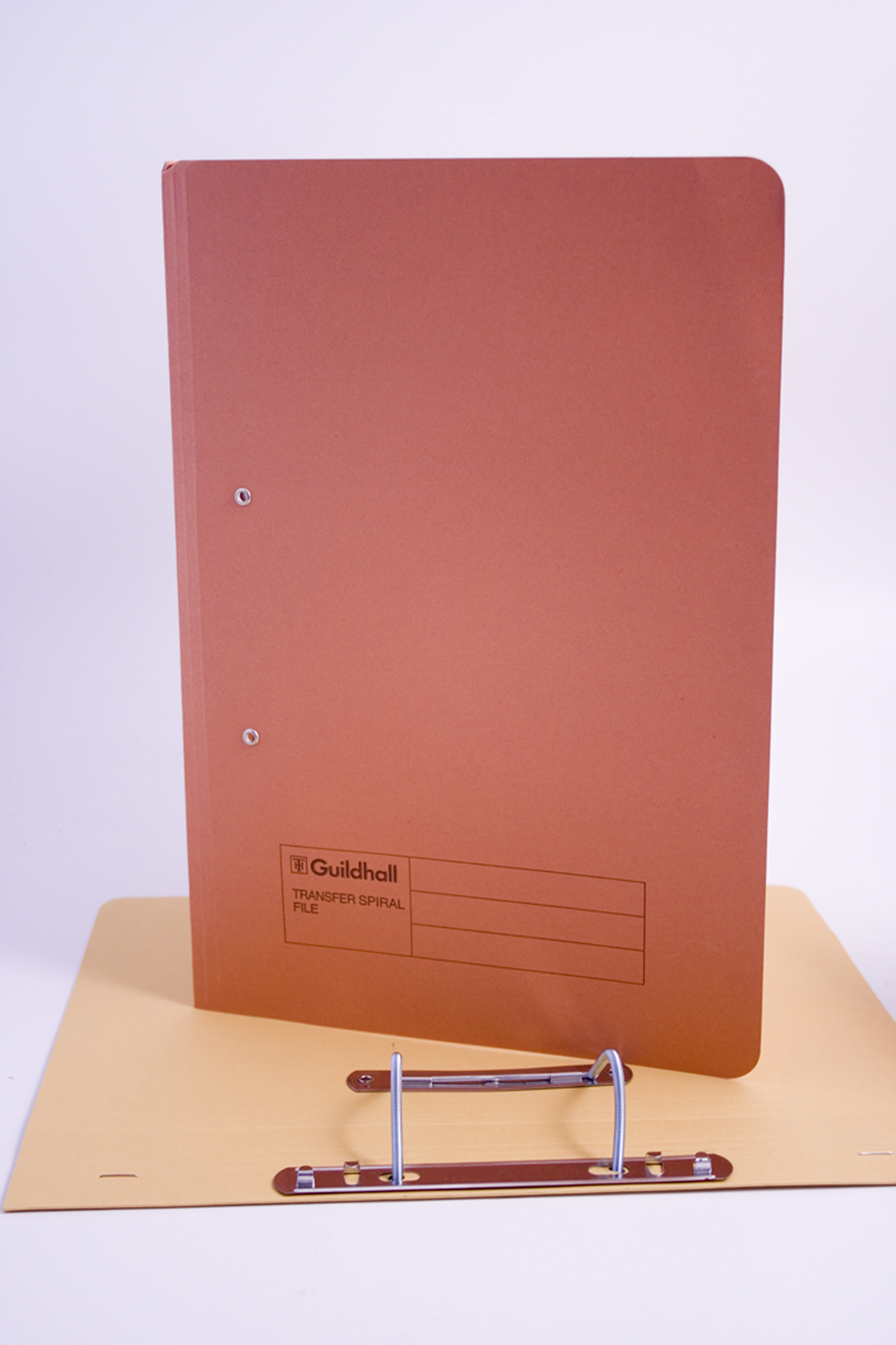 Guildhall Heavyweight Transfer Spiral File 420gsm Foolscap Orange (Pack of 25) 211/7004