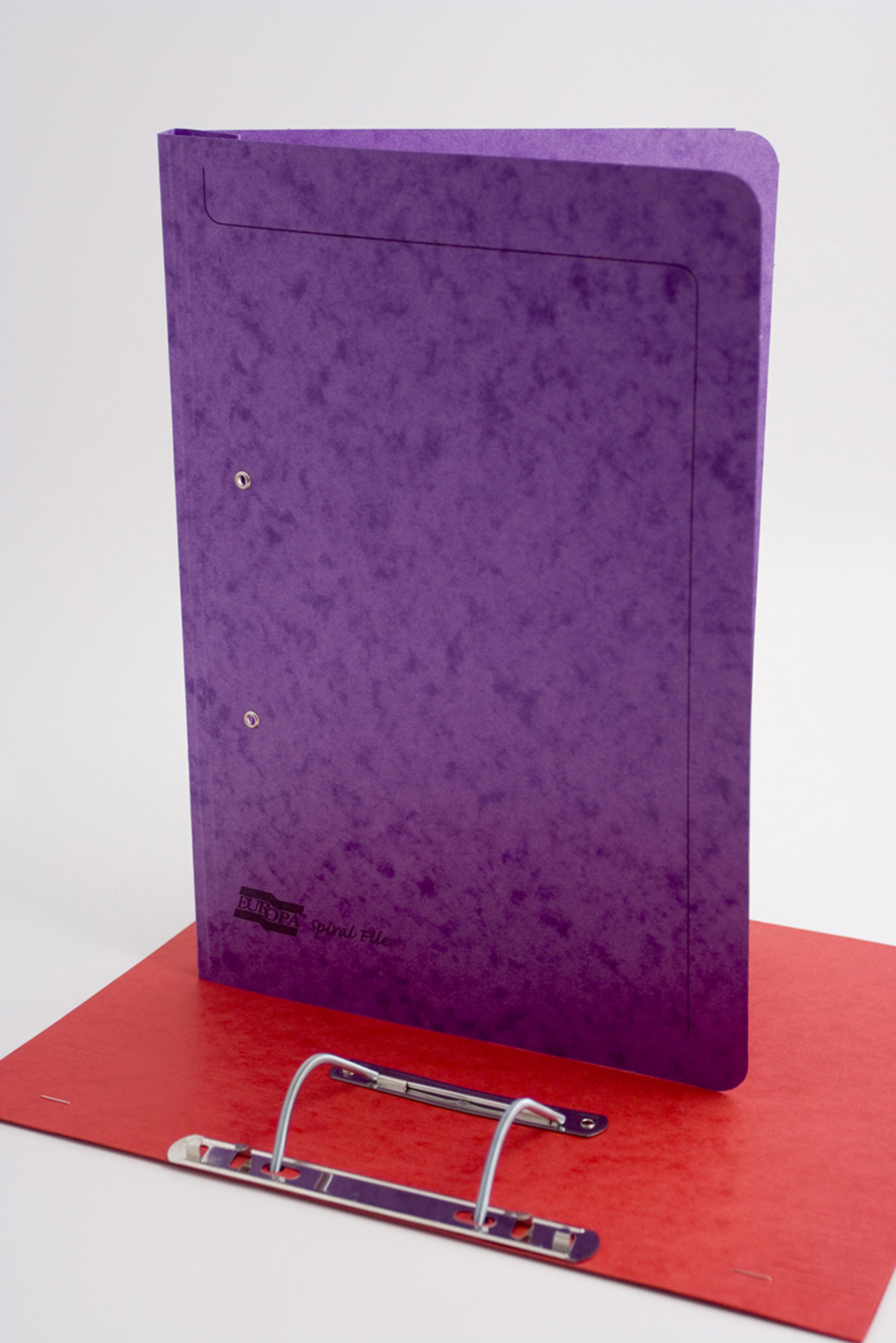 Europa Spiral Wirebound File Lilac PK25