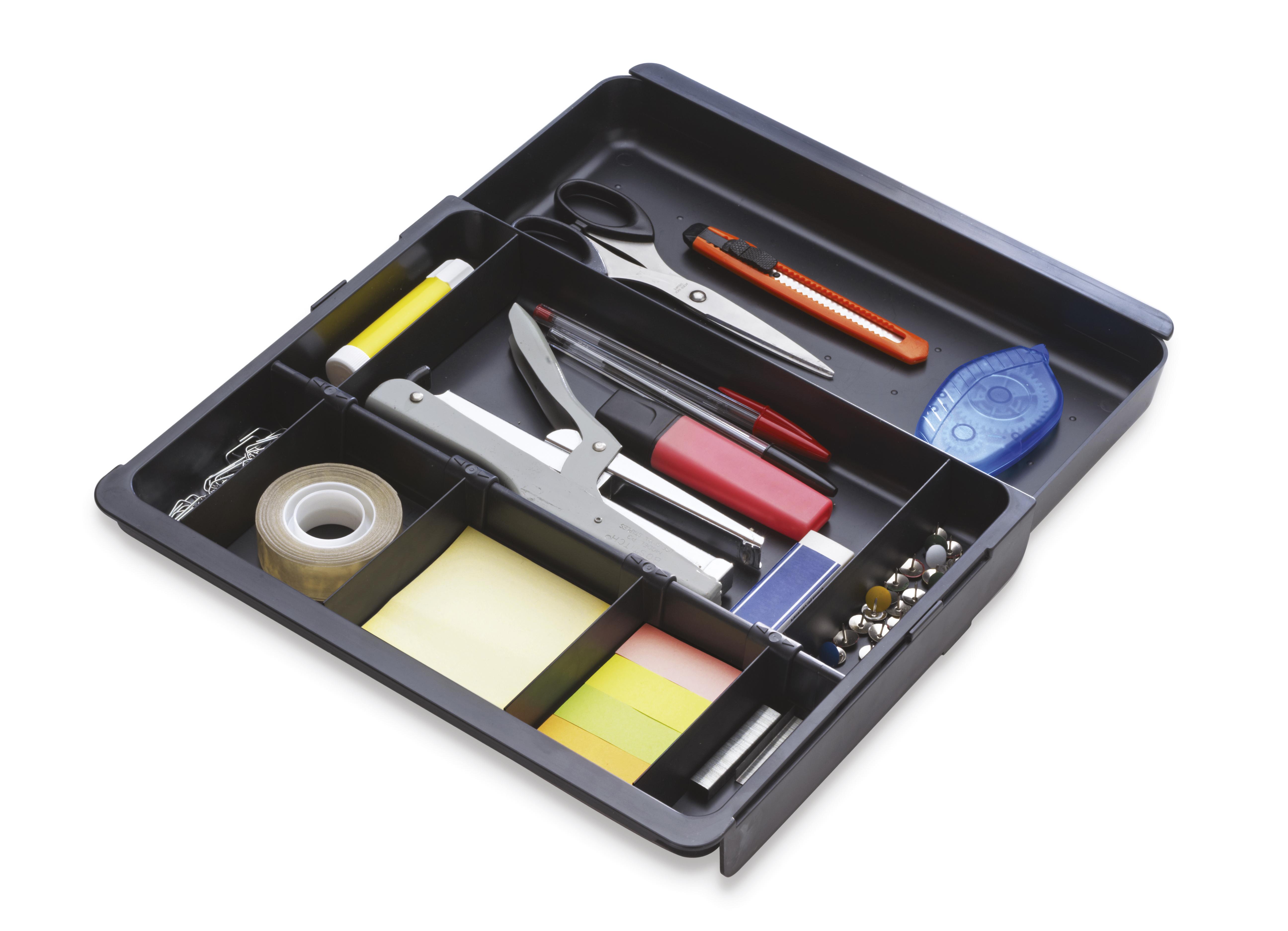 Notepaper Holder & Refills Exacompta Drawer Organiser Eco Black